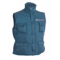 Gilet matelassé multi-poches bleu
