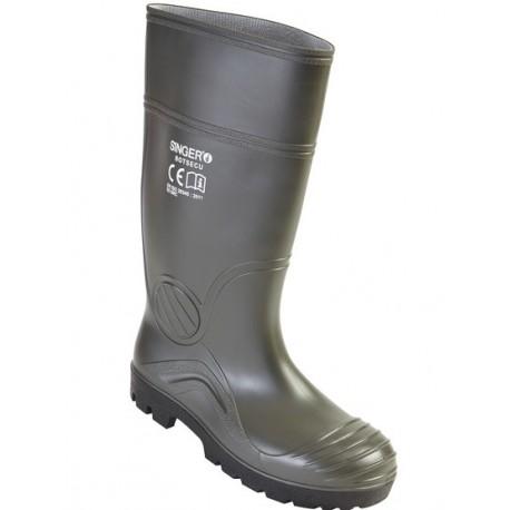 Bottes de sécurité vertes S5 SRC EPI chaussures professionnelles