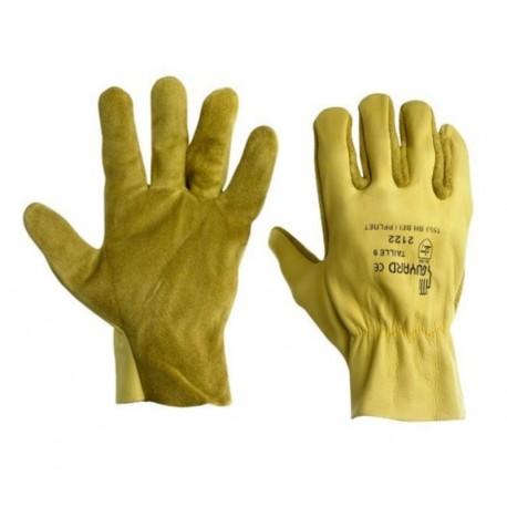 Gant type maîtrise cuir de bovin hydrofuge