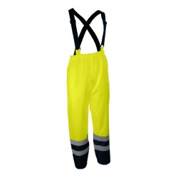 Pantalon haute-visibilité à bretelles